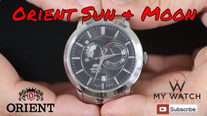 ORIENT WATCHES SUN AND MOON WATCH REVIEW - FET0P002B0