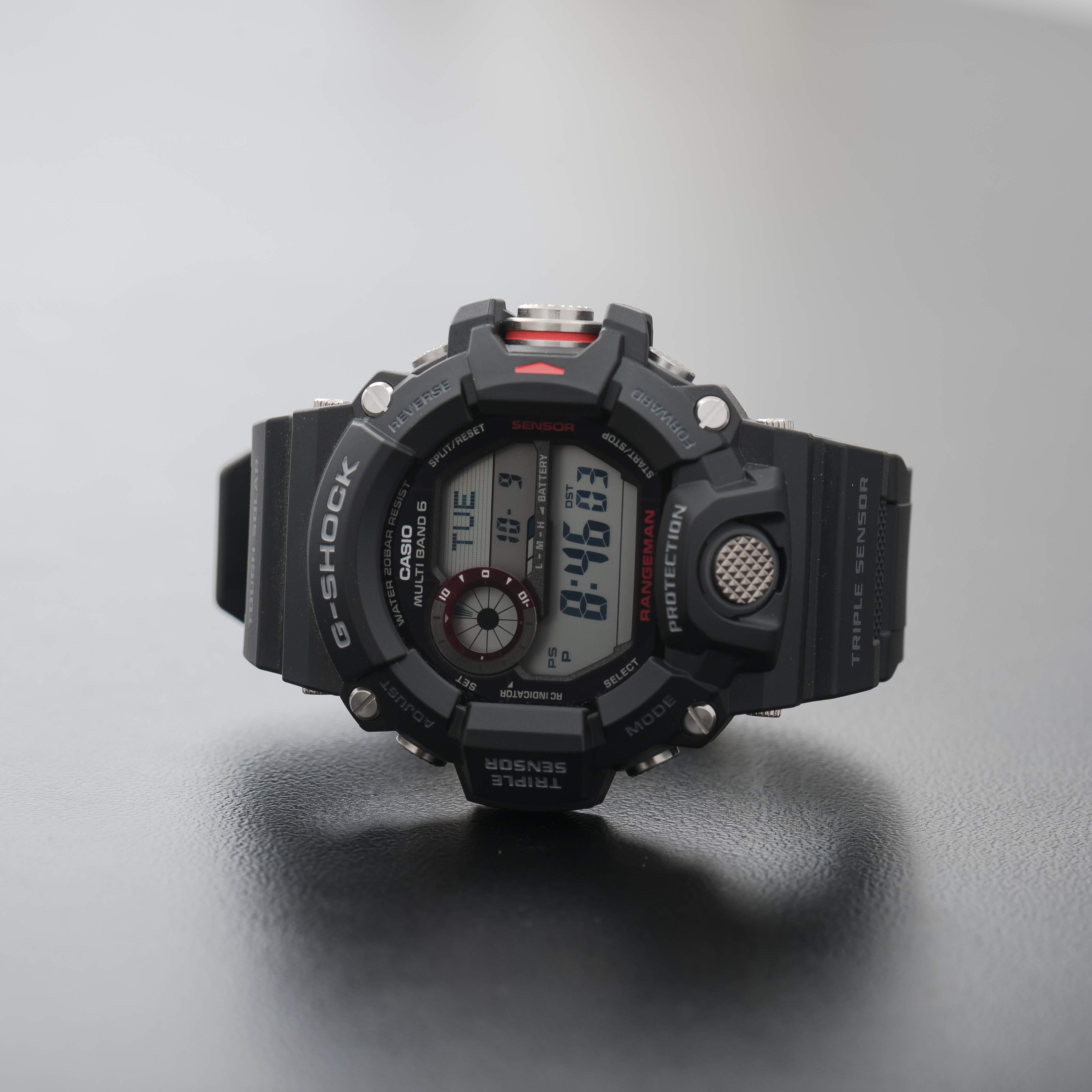 Casio G-Shock Rangeman Triple Sensor Chronograph Radio Control Watch GW-9400-1