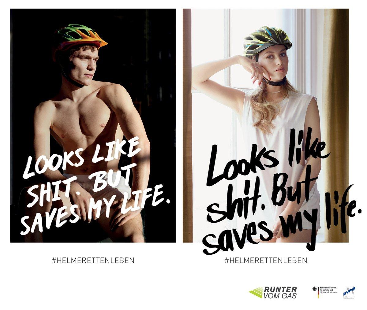 【ドイツ】自転車乗る時はヘルメット被ろう広告がセクシー過ぎると批判「見た目はクソだけど、命を守るぜ!」