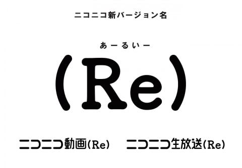 【ニコニコ】#niconico 新バージョンは「(Re)」。いいね!機能追加、AIが不適切コメント非表示