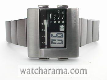 Seiko Nooka Retro LCD Black Steel