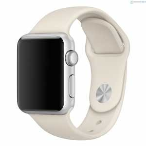 Apple watch bandjes - Apple watch rubberen sport bandje - antique white-000