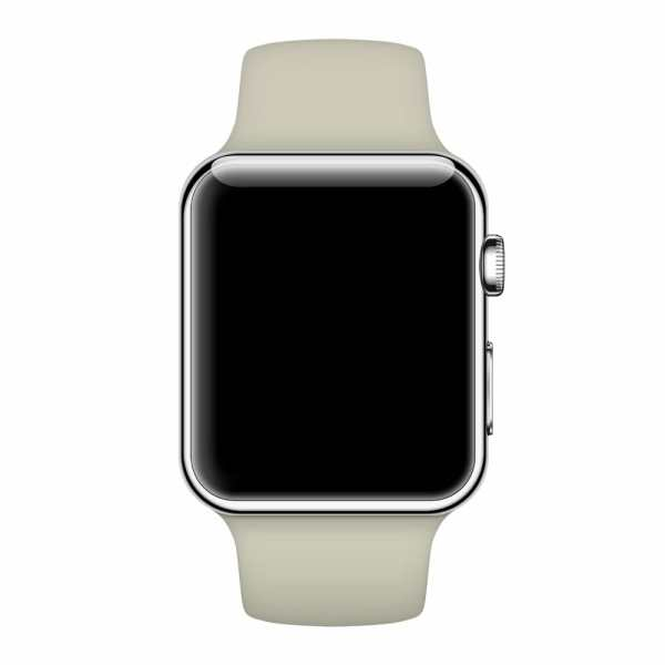 Apple watch bandjes - Apple watch rubberen sport bandje - antique white0002