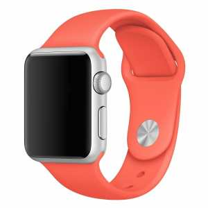 Apple watch bandjes - Apple watch rubberen sport bandje - apricot-001