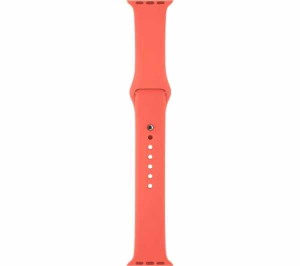 Apple watch bandjes - Apple watch rubberen sport bandje - apricot-002