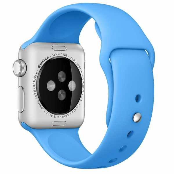 Apple watch bandjes - Apple watch rubberen sport bandje - blauw -003