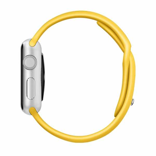 Apple watch bandjes - Apple watch rubberen sport bandje - geel-007
