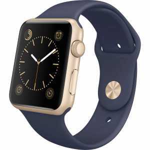 Apple watch bandjes - Apple watch rubberen sport bandje - midnight-blue-001