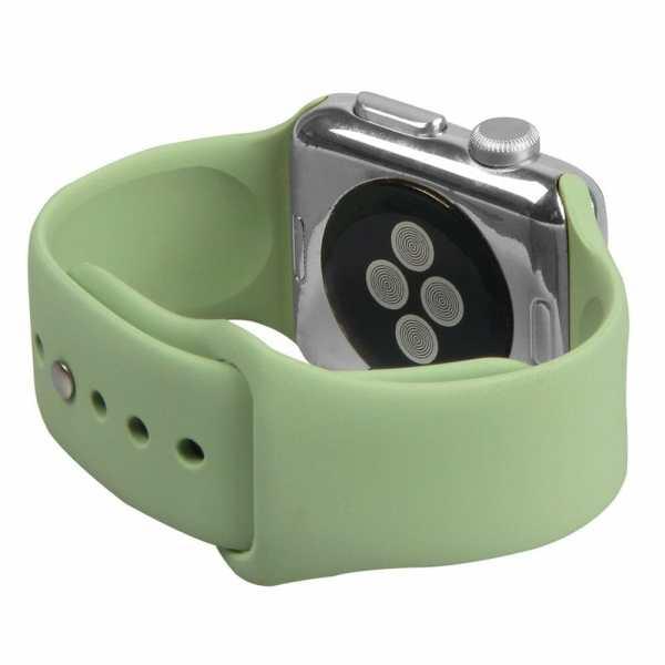 Apple watch bandjes - Apple watch rubberen sport bandje - mint-004