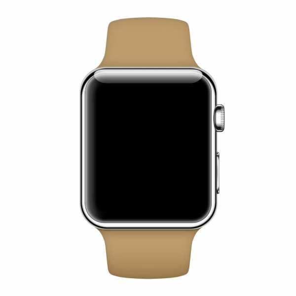 Apple watch bandjes - Apple watch rubberen sport bandje - walnut-004