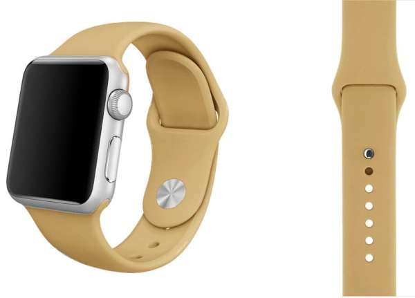 Apple watch bandjes - Apple watch rubberen sport bandje - walnut