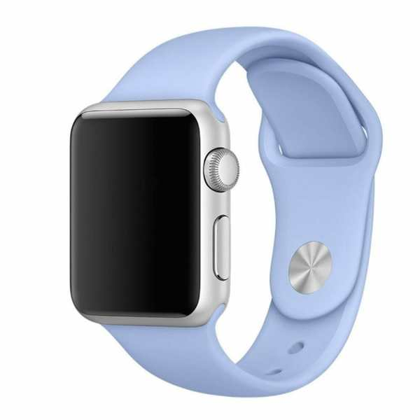 Third party Apple watch bands rubberen sport bandje Lila-001