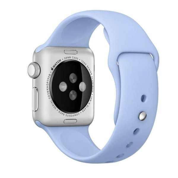 Third party Apple watch bands rubberen sport bandje Lila-002