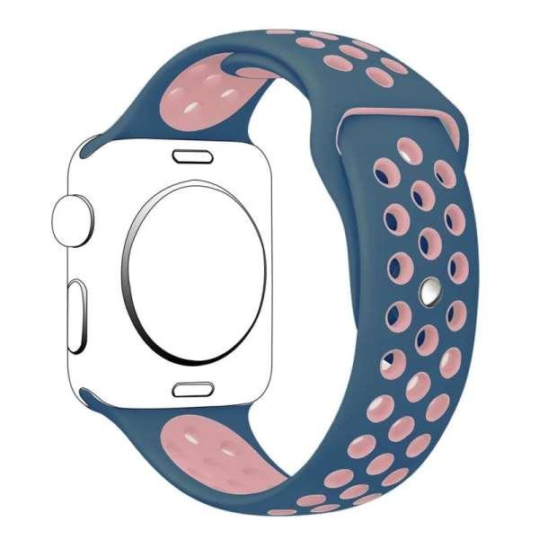 sport bandje voor de Apple Watch-Midden blauw-Rose-002