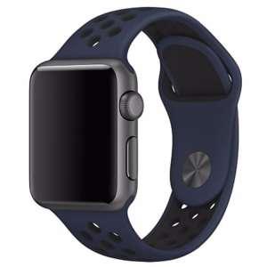 sport bandje voor de Apple Watch-blauw-zwart-001
