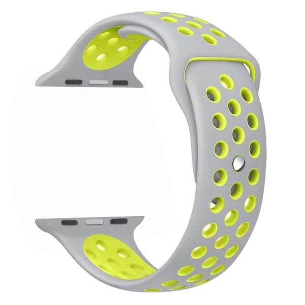 sport bandje voor de Apple Watch-grijs-geel-002