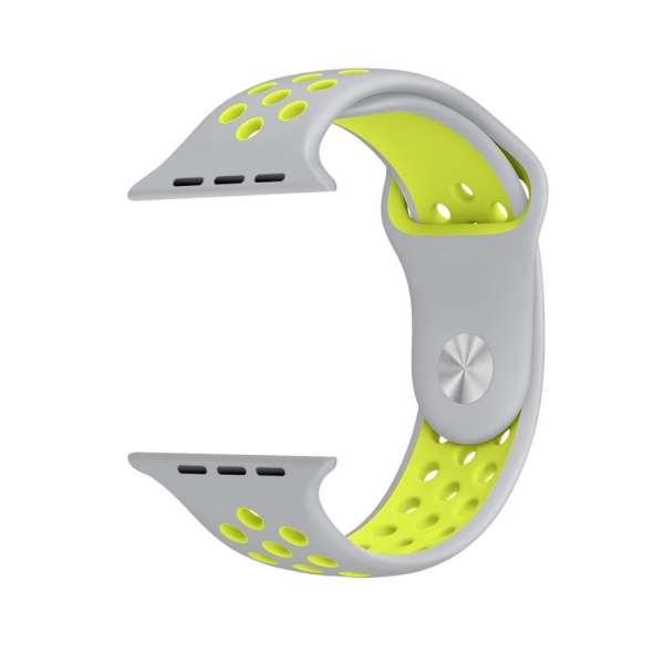 sport bandje voor de Apple Watch-grijs-geel-003