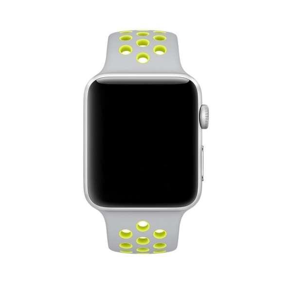 sport bandje voor de Apple Watch-grijs-geel-006
