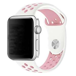 sport bandje voor de Apple Watch-wit-rose-004