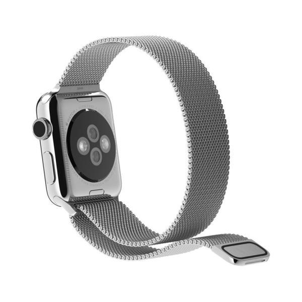 Milanese Loop rvs zilver bandje voor de Apple Watch 42mm-006