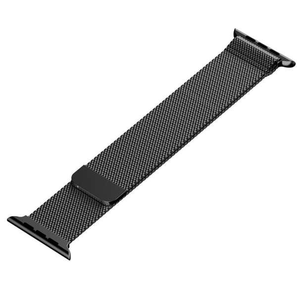 Milanese Loop rvs zwart bandje voor de Apple Watch 42mm-004