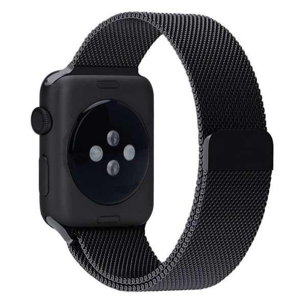 Milanese Loop rvs zwart bandje voor de Apple Watch 42mm-008