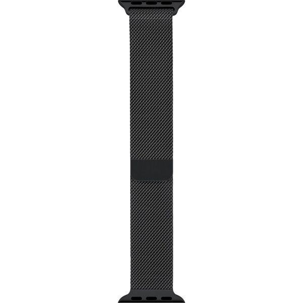 Milanese Loop rvs zwart bandje voor de Apple Watch 42mm-013