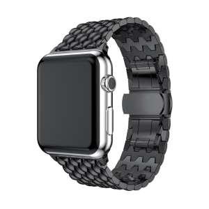 RVS zwart metalen bandje armband voor de Apple Watch iwatch-004