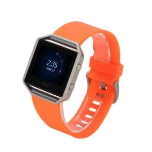 Luxe Siliconen Bandje large voor FitBit Blaze – oranje_007