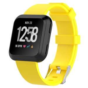 Luxe Siliconen Bandje large voor FitBit Versa – geel-002