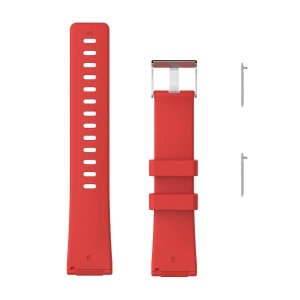 Luxe Siliconen Bandje large voor FitBit Versa – rood-001