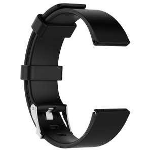 Luxe Siliconen Bandje large voor FitBit Versa – zwart-003