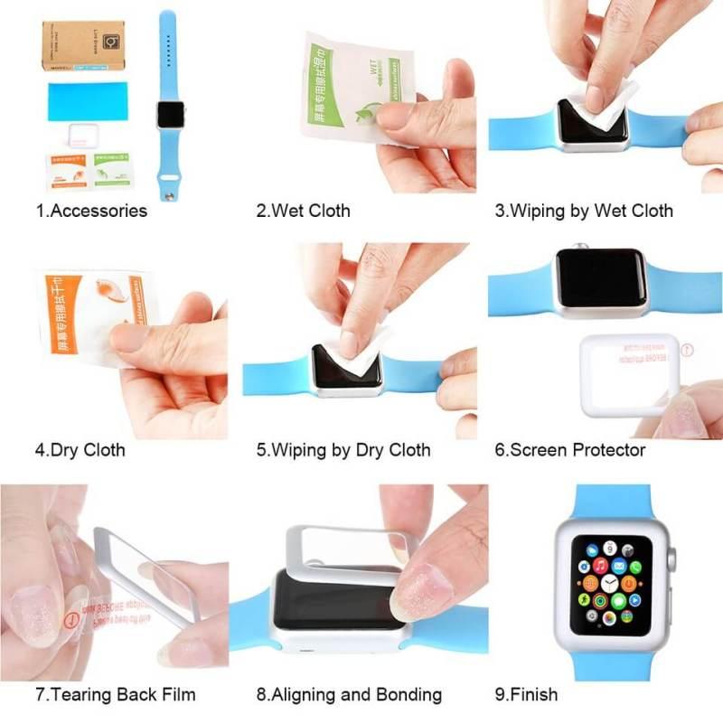hoe een screen protector plakken watchbands-shop