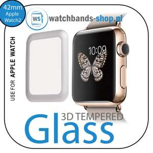 42mm full Cover 3D Tempered Glass Screen Protector For Apple watch iWatch 2 black edge