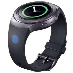 Samsung Gear S2 bandje silicone zwart met stip_005