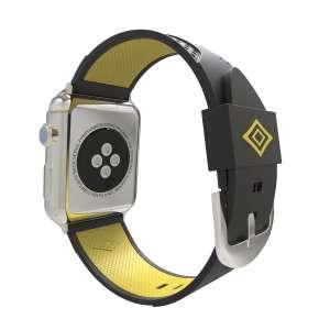 Apple watch bandje 38mm duo zwart - geel_004