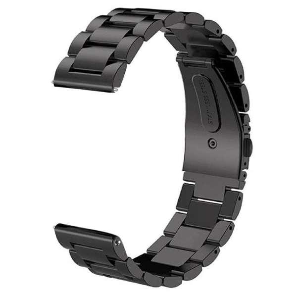 Samsung Gear S3 bandje RVS zwart metaal-004