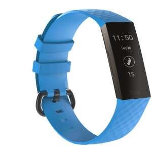 Bandje geschikt voor Fitbit Charge 3 SMALL – blauw