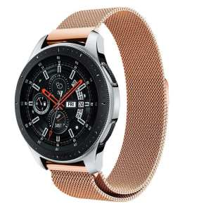 Samsung Gear Sport 20mm bandje Samsung Galaxy 42mm bandje SM-R810 Milanese Loop rose goud_013