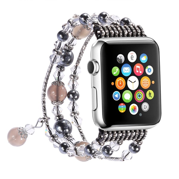 42MM Apple Watch Band Luxury Crystal Agate Band Women