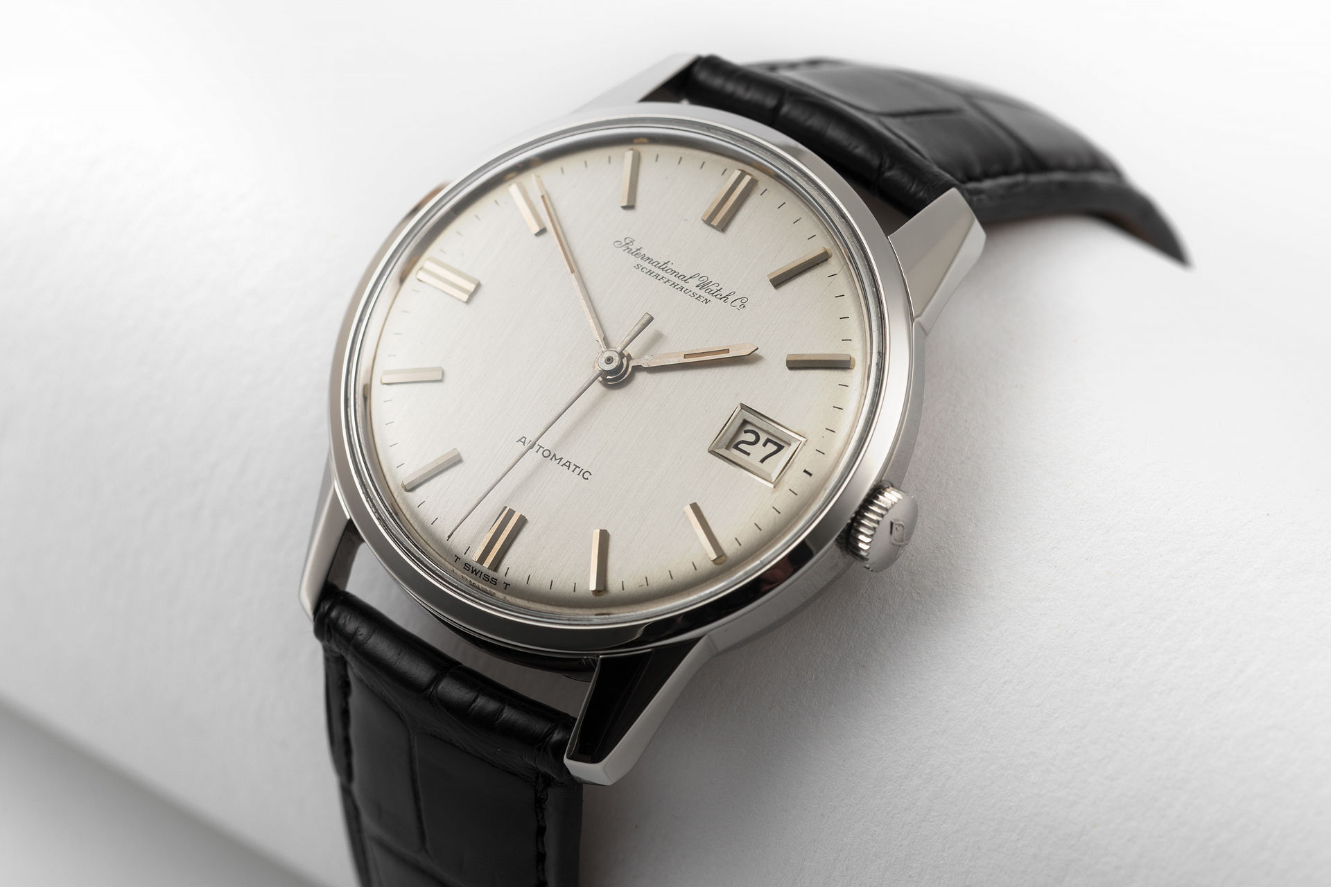 IWC Vintage Automatic Watches Ref 810A Stainless Steel Fish Crown The Watch Club