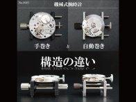 【YouTube動画紹介】No.0021 機械式腕時計の手巻きと自動巻き構造の違い【4K】
