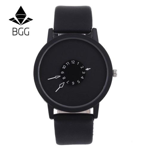 Fashion leather watches women men