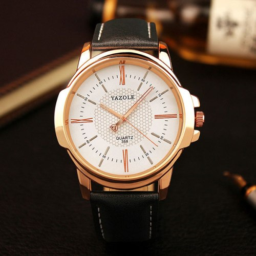 YAZOLE Rose Gold Wrist Watch Men