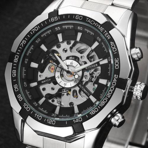 Winner Full Stainless Steel Auto Mechanical Watch For Men