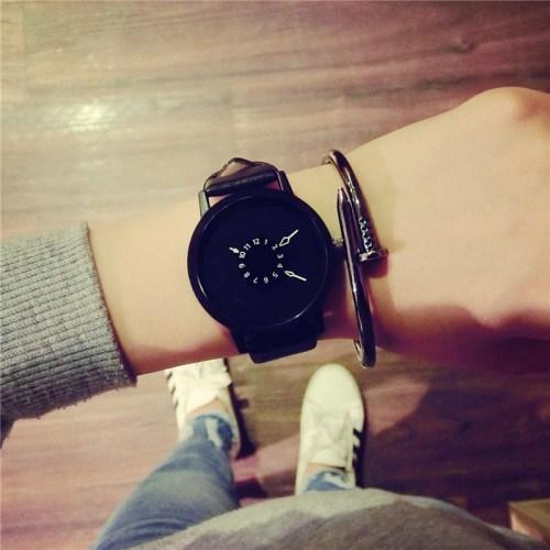 Fashion leather watches women men