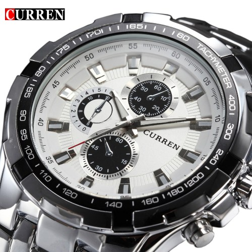 Curren Full Stainless Steel Watch for Men