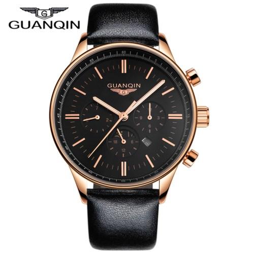GUANQIN Men Watch Luxury Fashion Casual Waterproof Quartz