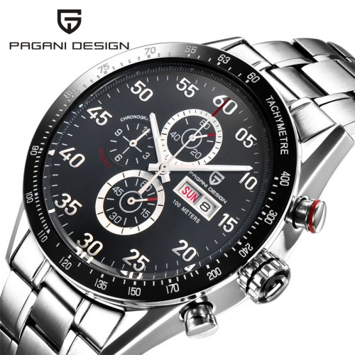 Pagani Design Steel Chrono Watch