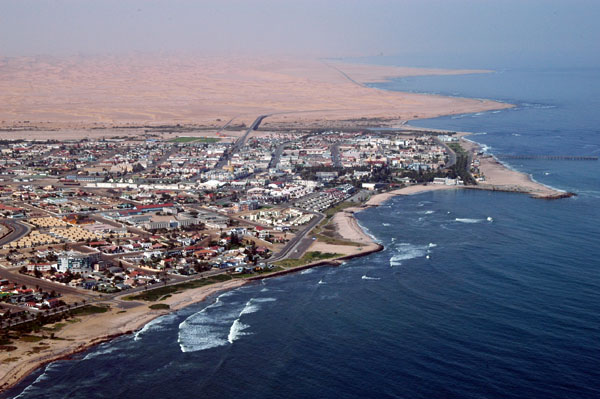 Ariel view of Swakopmund...courtesy of watchingamerican.com